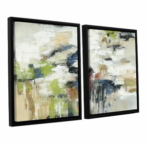 highline view 2 piece framed painting print on canvas set