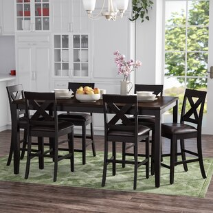 Nadine Rectangular 7 Piece Breakfast Nook Dining Set
