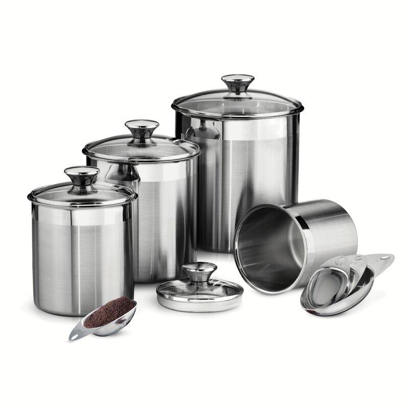 Gourmet 4 Piece Kitchen Canister Set