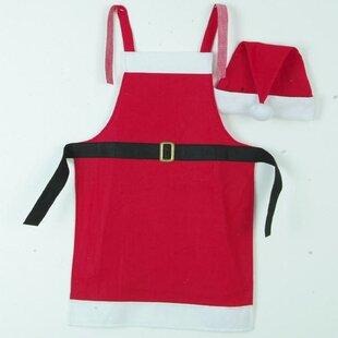 Festive Christmas Apron And Santa Claus Hat