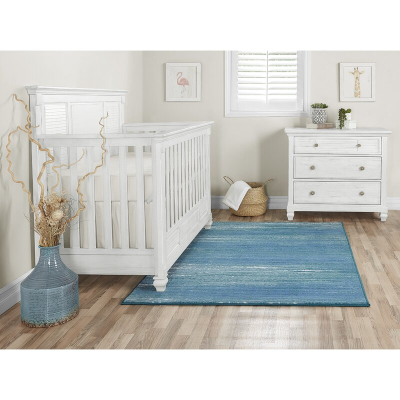 Nursery Caribbean Blue Area Rug