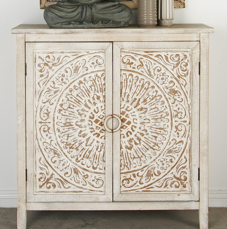 Sydni Traditional Carved Design 2 Door Accent Cabinet by Mistana™
