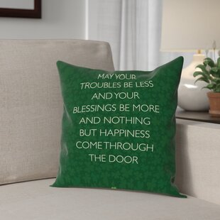 Brett Wilson St. Patrick's Day Throw Pillow