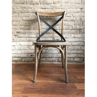 Union Rustic Lyndsay Cross Back Upholstered Dining Chair (Set of 2)