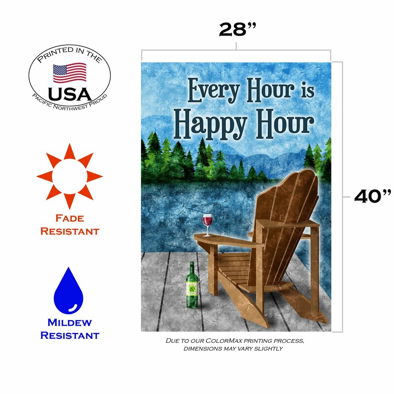 Toland Home Garden Happy Hour Lake 28 X 40 Inch House Flag Wayfair