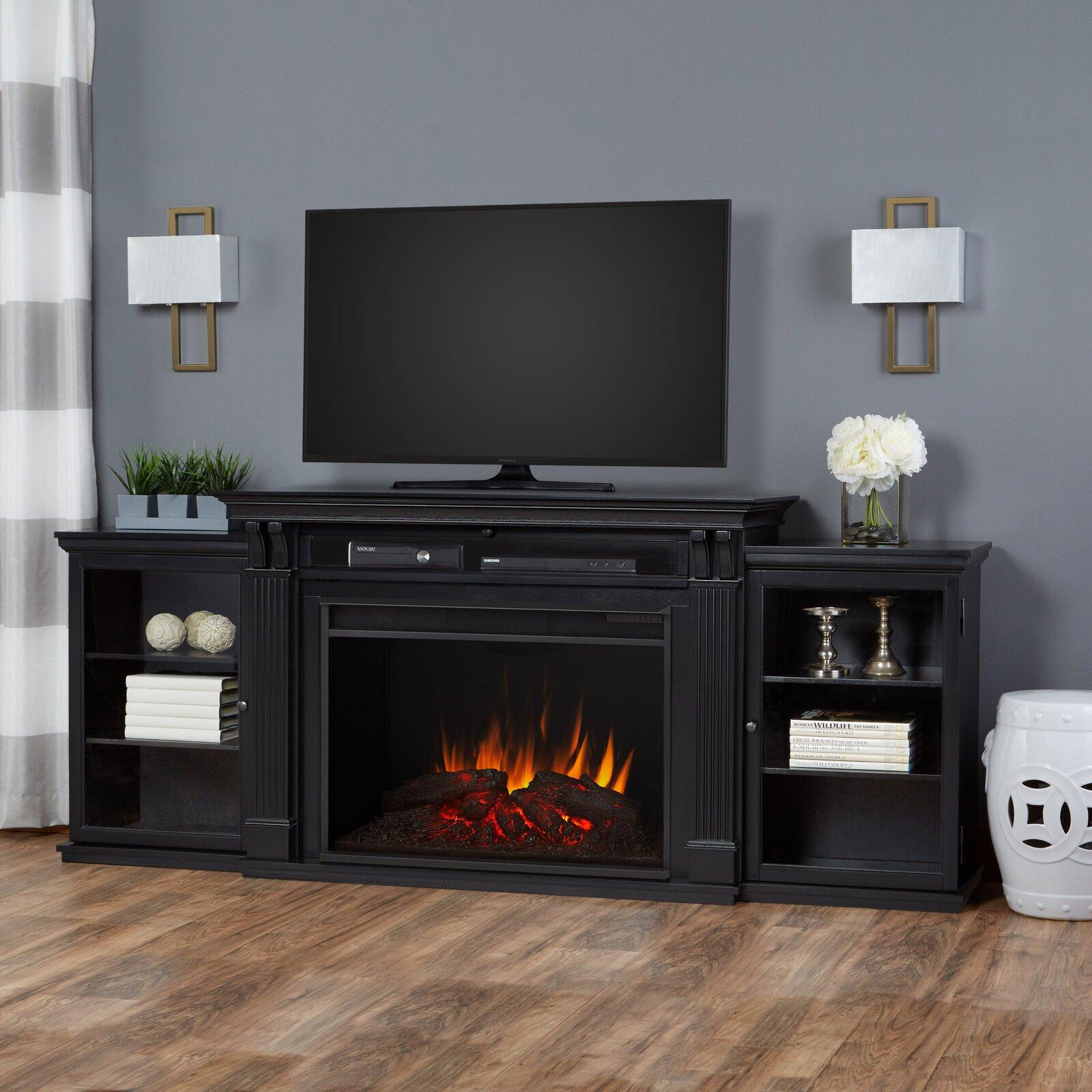 Décoration salon, meuble-télé-foyer