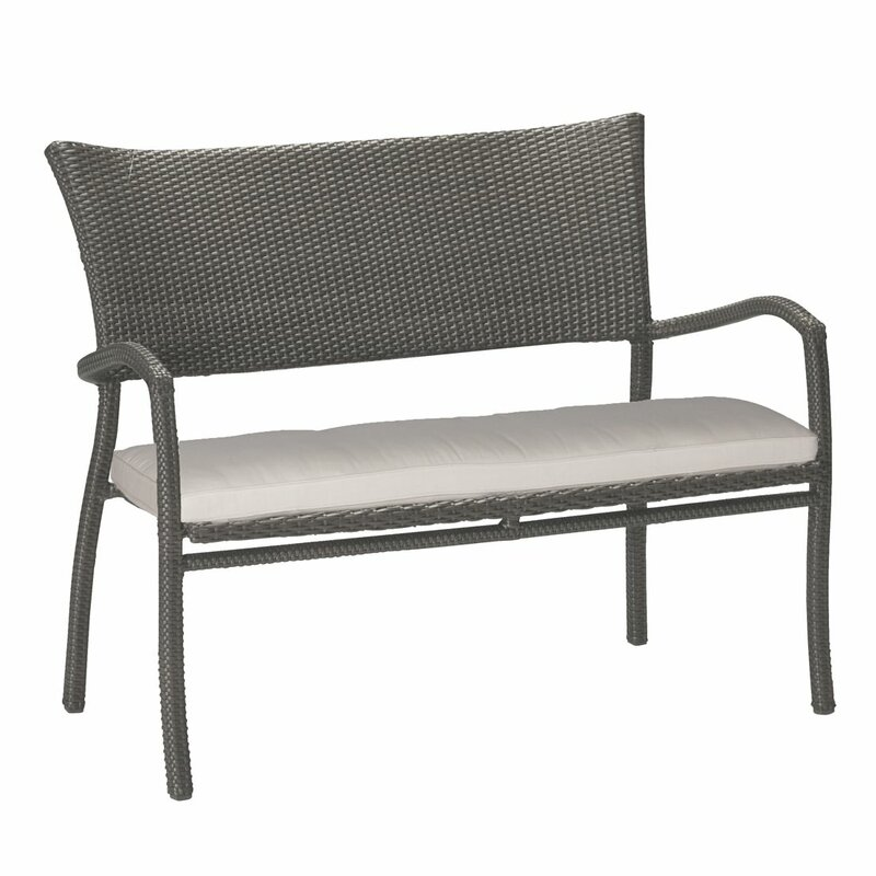 Skye Aluminum Garden Bench With Cushions