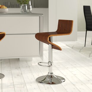 Guidry Height Adjustable Swivel Bar Stool By Wrought Studio