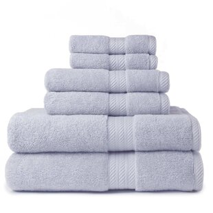 6 Piece 100% Cotton Towel Set