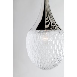 Jeramy Incandescent 1-Light Teardrop Pendant by Corrigan Studio