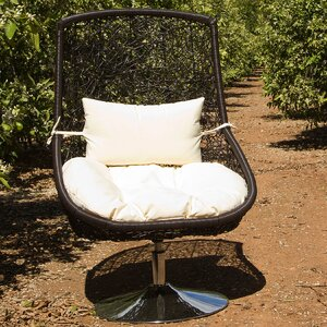Rattan Lounge Chair with Cushions