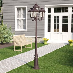 Gurnee Outdoor 4-Light 93'' Post Light by Three Posts