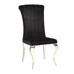 Geraldina Metal Upholstered Side Chair (S..