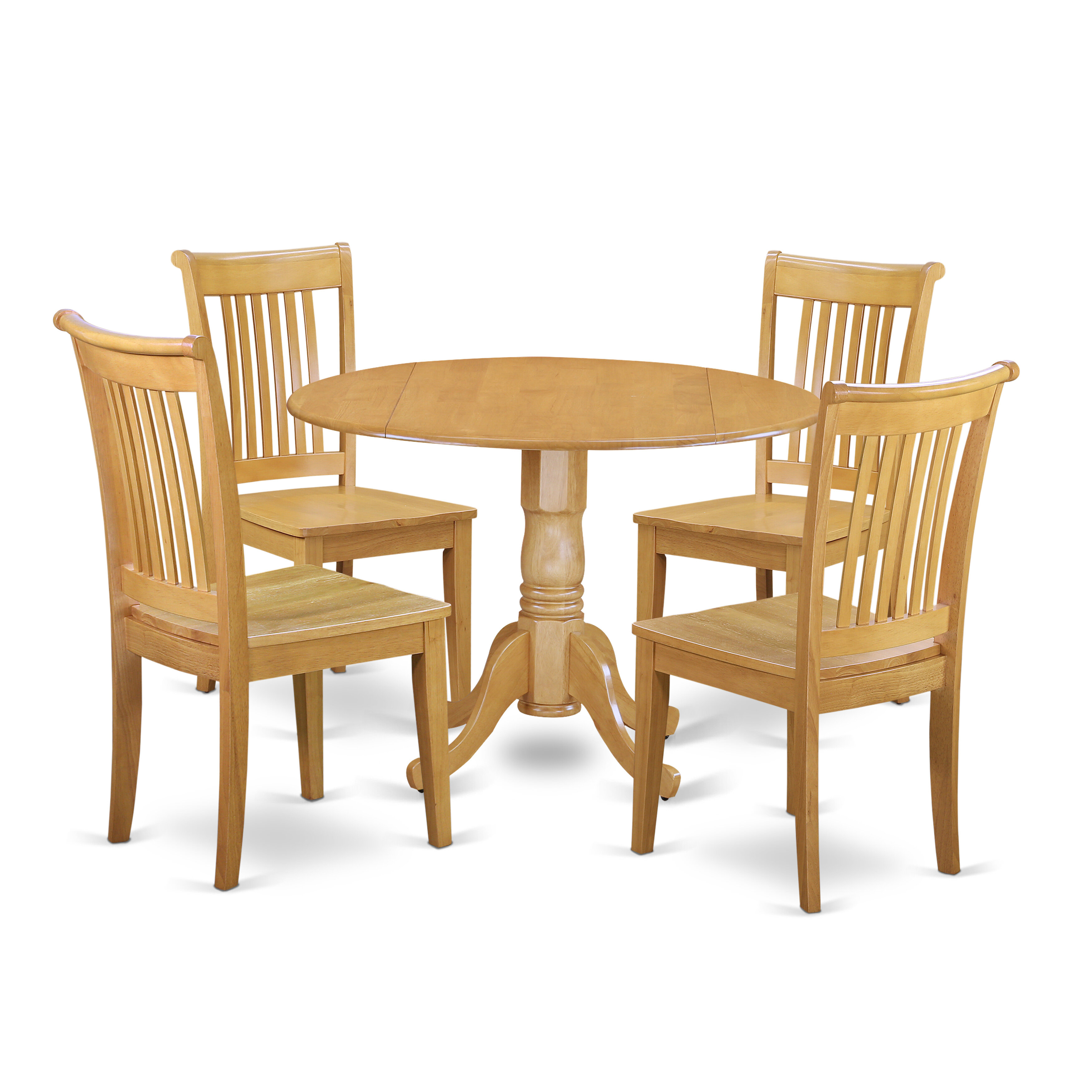 1263c340e4e8f August Grove Spruill 5 Piece Drop Leaf Breakfast Nook Solid Wood Dining Set