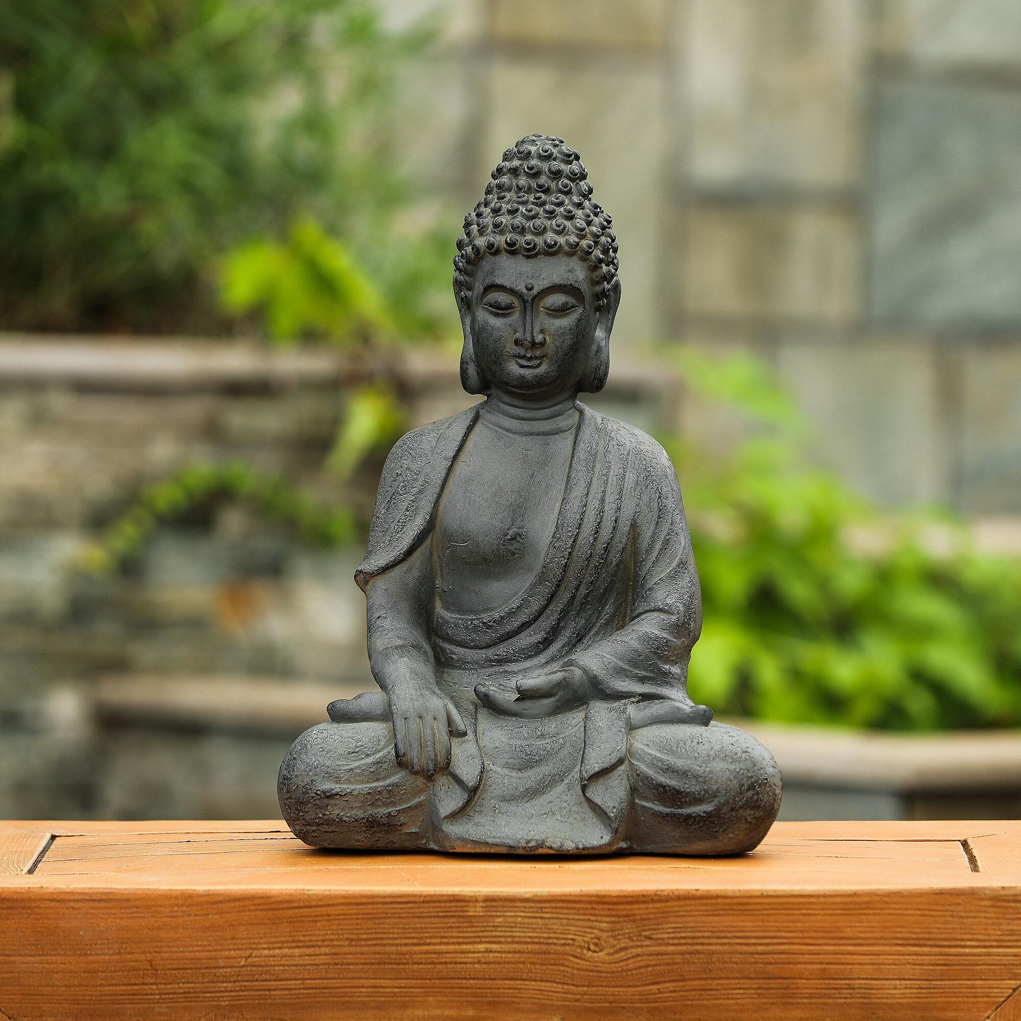 Freeport Park Kaya Enlightened Buddha Garden Statue Reviews Wayfair
