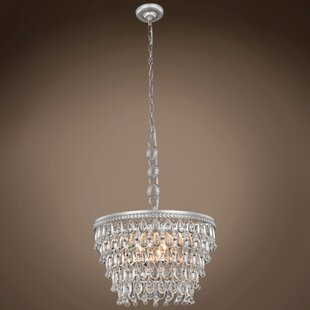 House of Hampton Fonso Teardrop 5-Light Crystal Chandelier