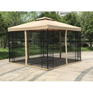 Double Roof 10 Ft. W x 10 Ft. D Steel Patio Gazebo by Jeco Inc.
