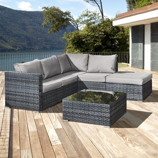 Lizzo 5 Seater Rattan Corner Sofa Set By Sol 72 Outdoor