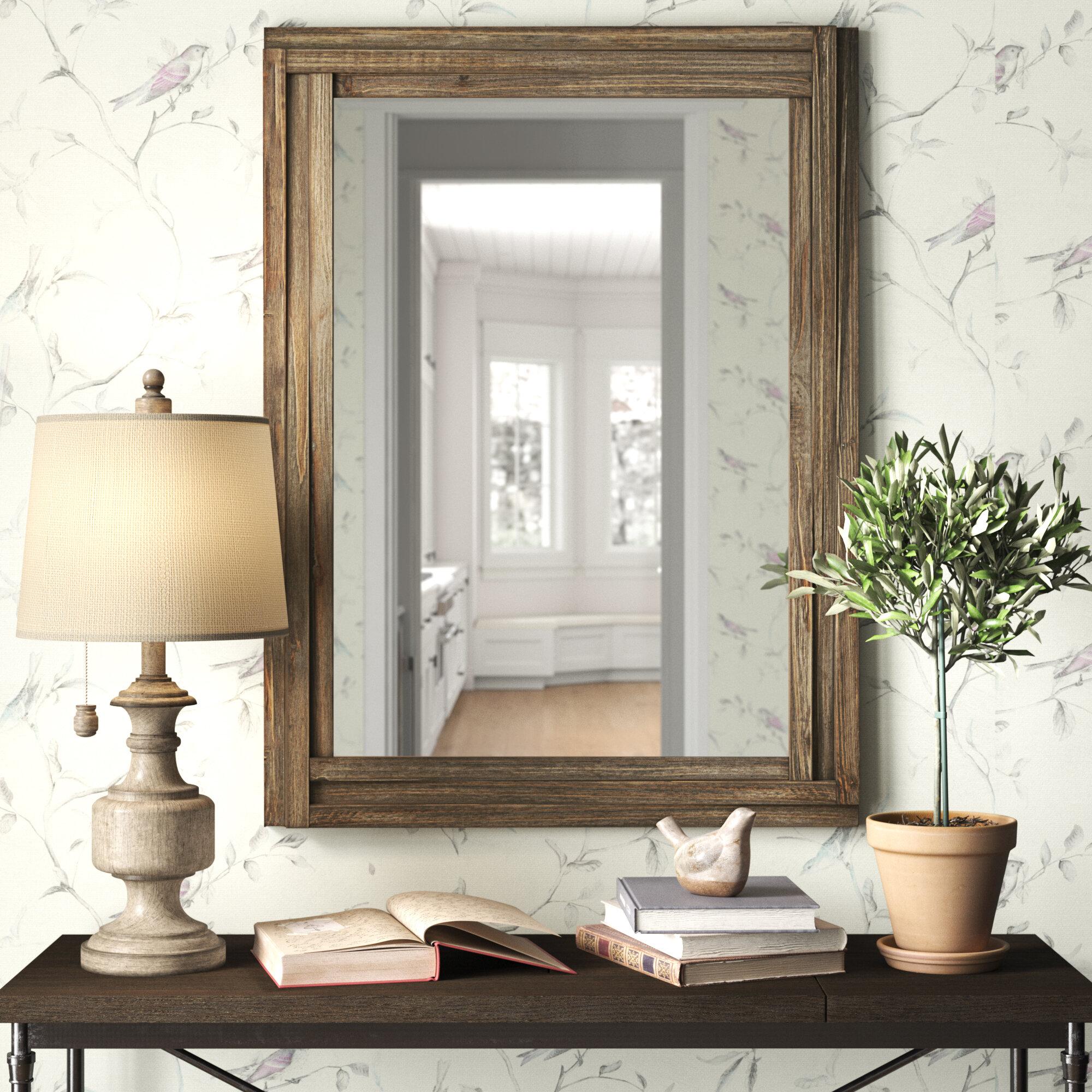 Clarkdale Wood Mirror Reviews Birch Lane