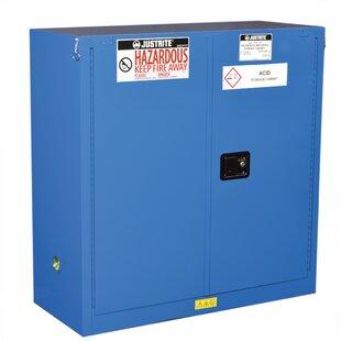 Sure-Grip? 44H x 43W x 18D  2 Door EX Hazardous Material Steel Safety Cabinet by Justrite