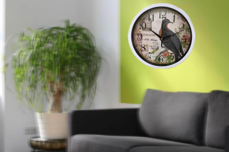 Ophelia Co Claycomb 10 Bird Wall Clock Wayfair