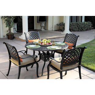 Lincolnville 5 Piece Dining Set with Cushions