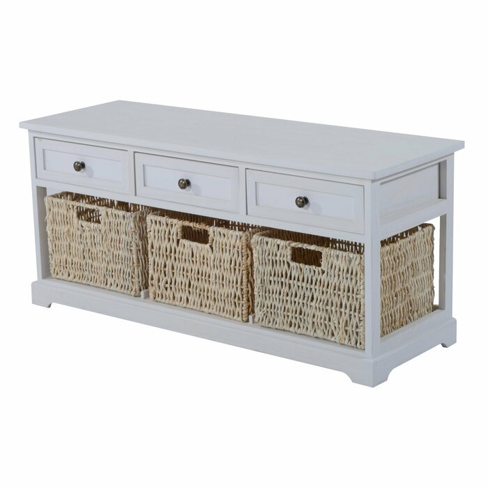 Exceptionnel Highland Dunes Coen 3 Drawer 3 Basket Wood Storage Bench U0026 Reviews   Wayfair