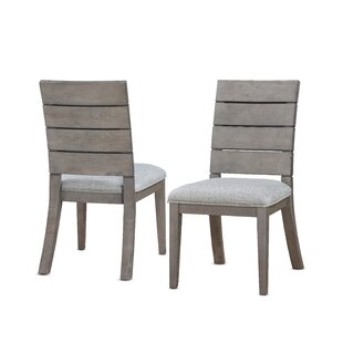 Wooton Ladder Upholstered Dining Chair (Set of 2) Gracie Oaks