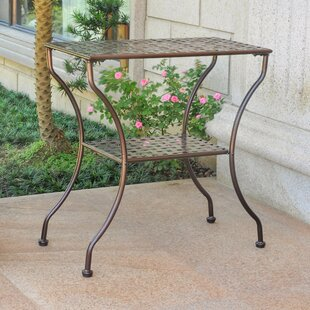 Online Reviews Rosana Iron 2-Tier Patio Table By Mistana