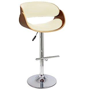 Lamberto Adjustable Height Bar Stool by Orren Ellis