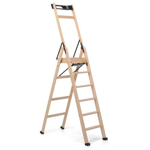 2|07 m Trittleiter Lascala aus Holz Foppapedretti Ausführung/Farbe: Beige | Baumarkt > Leitern und Treppen > Trittleiter | Foppapedretti