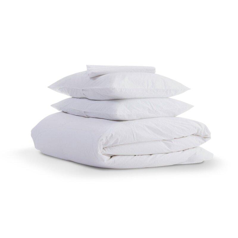 Gus 100 Organic Cotton Solid Wrinkle Resistant Reversible Duvet Cover Set Reviews Allmodern