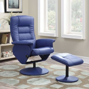 Orren Ellis Crossland 2 Piece Manual Recliner Chair with Ottoman