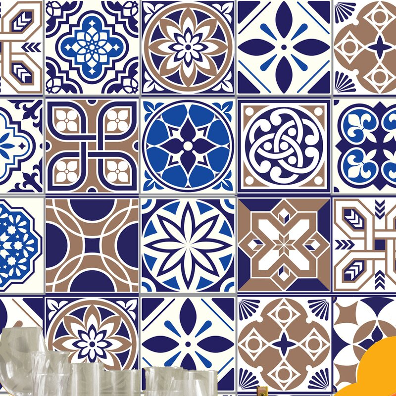 Home Loft Concept Spanish 15cm X 15cm Pvc Peel Stick Mosaic Tile