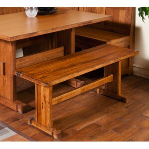 Fresno Rustic Oak Bench by Loon Peak