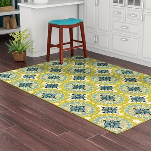 Brendel Green/Ivory Indoor/Outdoor Area Rug