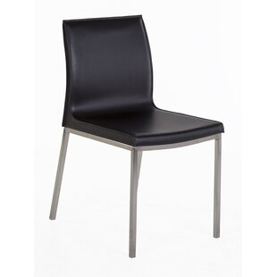 Forlanini Genuine Leather Upholstered Dining Chair Stilnovo
