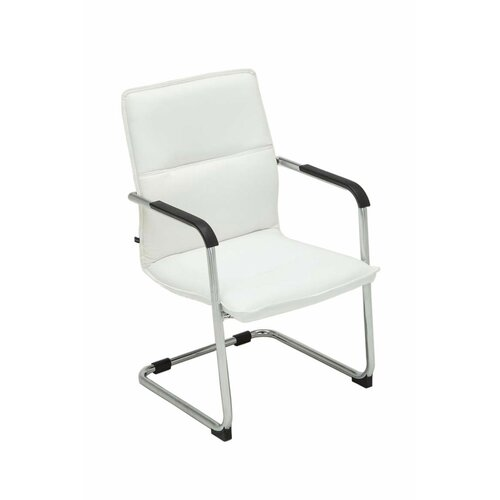 Freischwinger   Küche und Esszimmer > Stühle und Hocker > Freischwinger   Weiß   Kunstleder - Metall   ClearAmbient