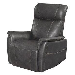 Wiegand Leather Manual Recliner by Red Barrel Studio