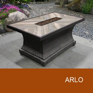 Arlo Aluminum Gas Fire Pit Table