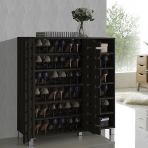 Delightful 24 Pair Shoe Storage Cabinet