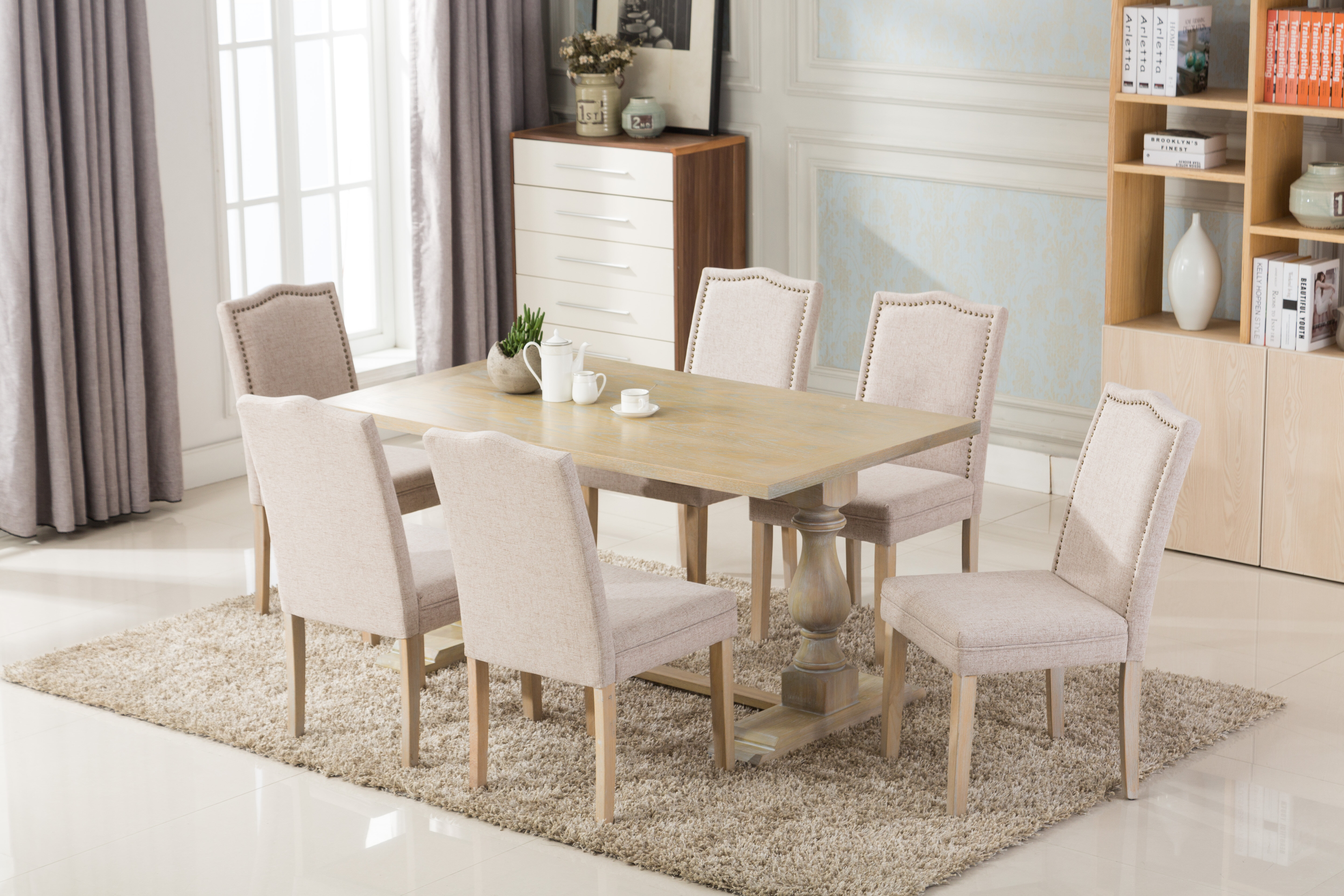 Merveilleux Patino Antique 7 Piece Dining Set