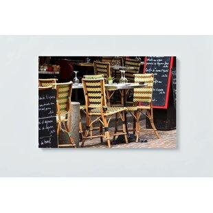 Cafe Motif Magnetic Wall Mounted Cork Board By Ebern Designs