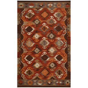 Handmade Kilim Wool Red/Brown Rug by Bakero