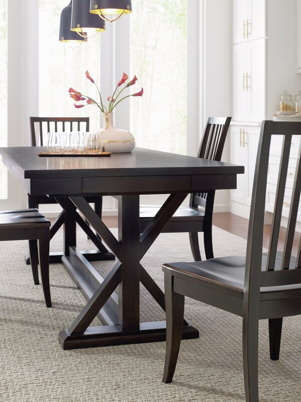 Trestle Dining Table Set & Rachael Ray Home Trestle Dining Table Set \u0026 Reviews | Wayfair