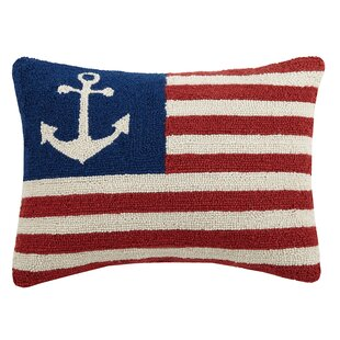 10fcc3450dbe USA Peace Anchor Flag Hook Wool Lumbar Pillow