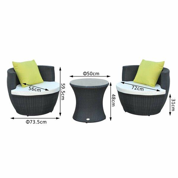 Yolanda 2 Seater Rattan Conversation Set