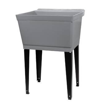 E L Mustee Son Utilatwin 40 X 24 Wall Mount Laundry Sink Wayfair
