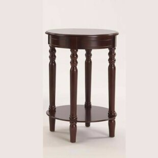 Pharsalia Round Wooden End Table by Charlton Home