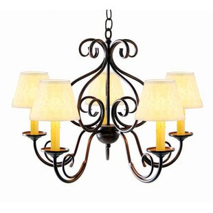 Jenna 5-Light Shaded Chandelier by 2nd Ave Design